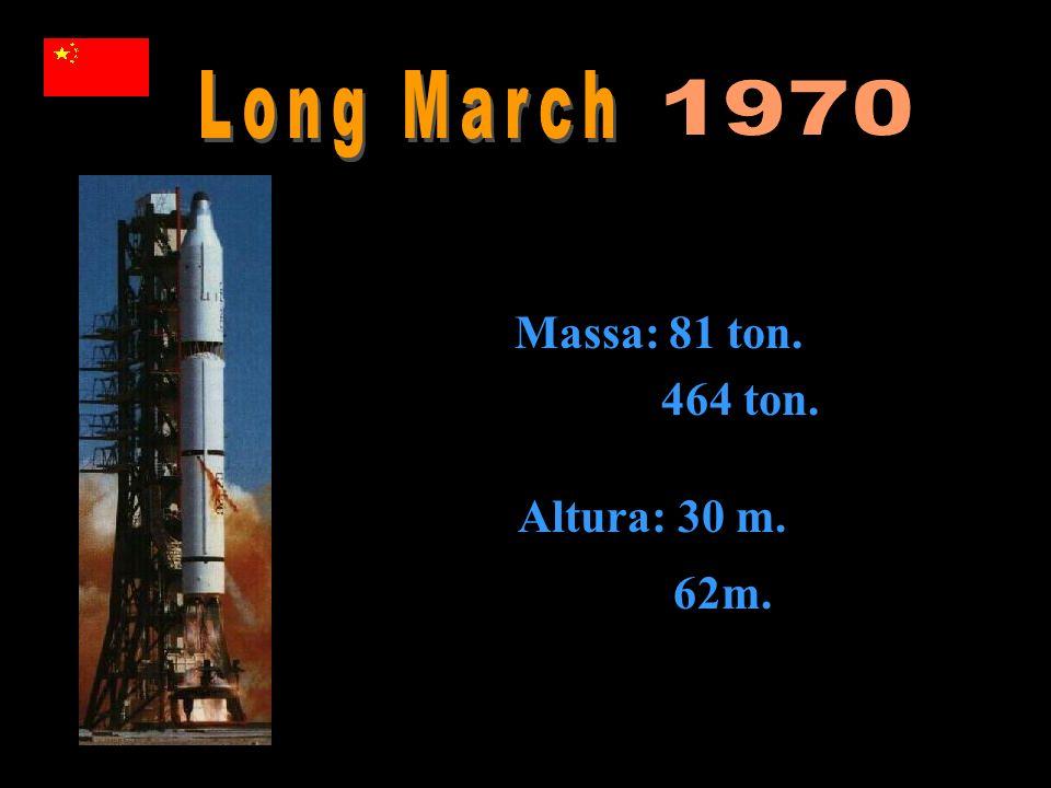 Long March 1970 Massa: 81 ton. 464 ton. Altura: 30 m. 62m.