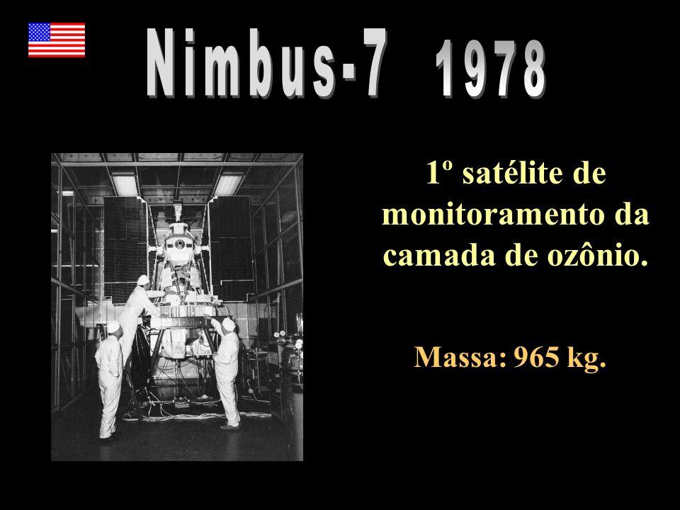 1º satélite de monitoramento da camada de ozônio.