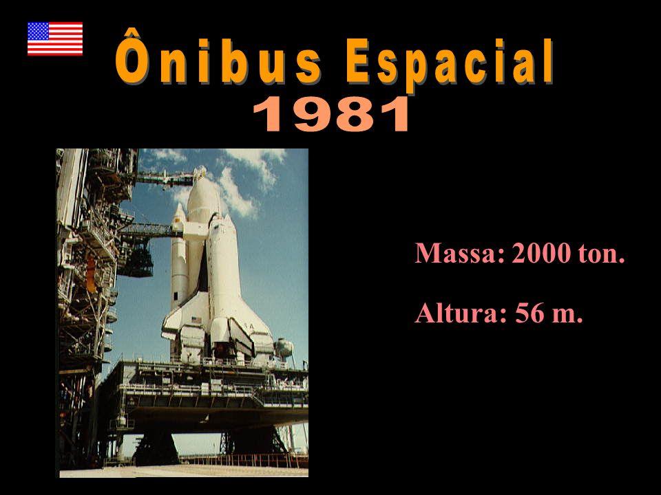 Ônibus Espacial 1981 Massa: 2000 ton. Altura: 56 m.