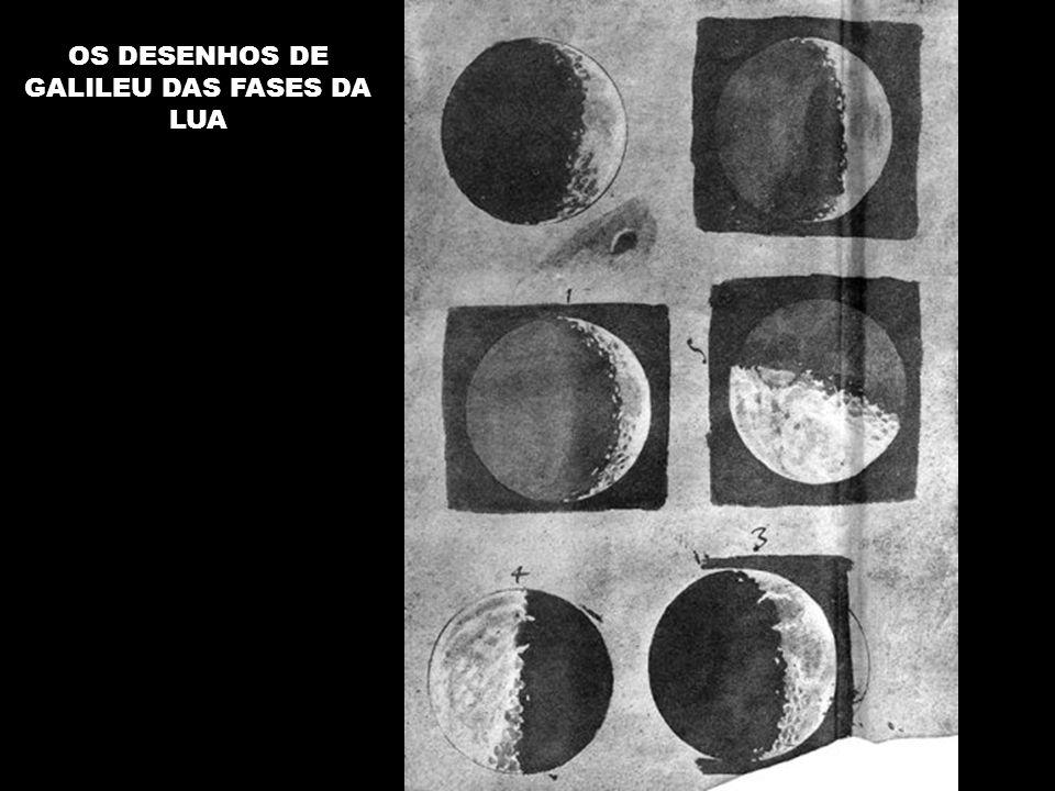 OS DESENHOS DE GALILEU DAS FASES DA LUA