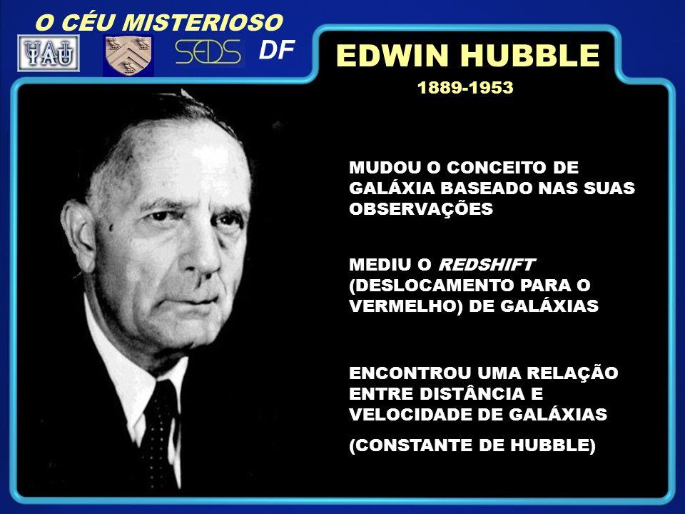 EDWIN HUBBLE DF O CÉU MISTERIOSO 1889-1953
