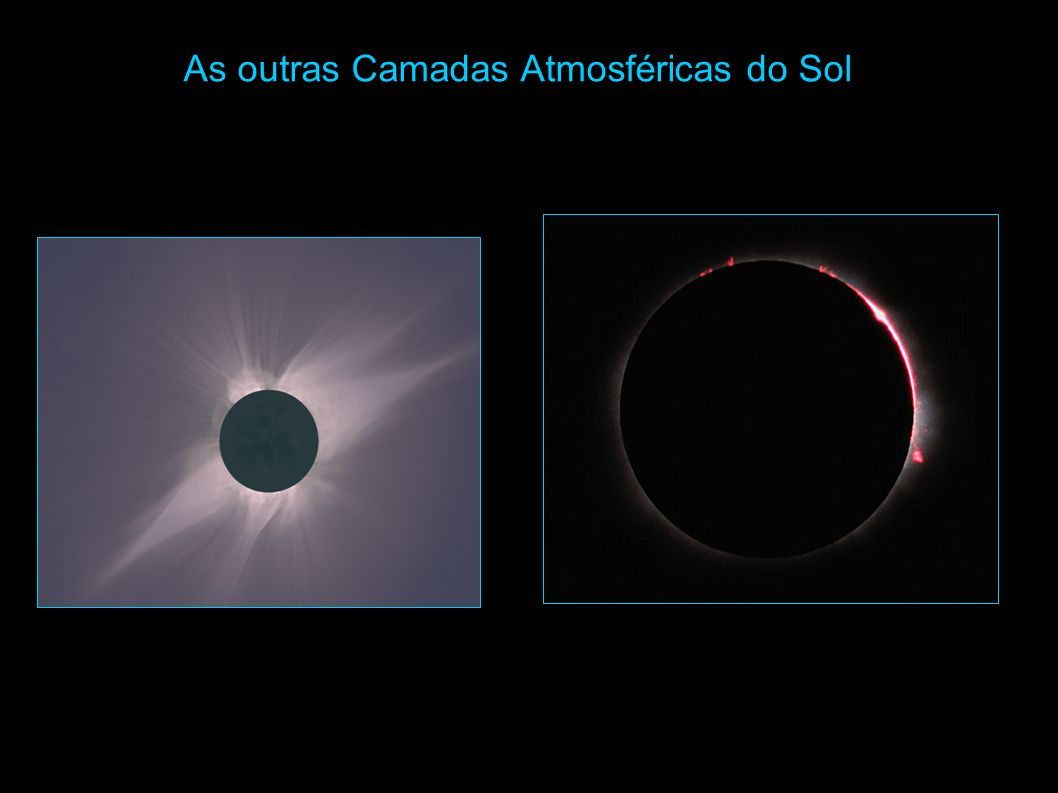 As outras Camadas Atmosféricas do Sol