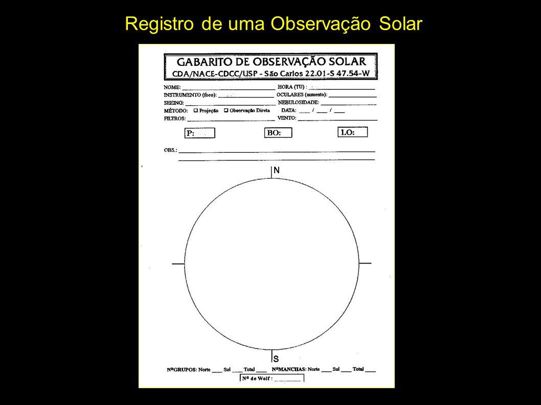 Registro de uma Observação Solar
