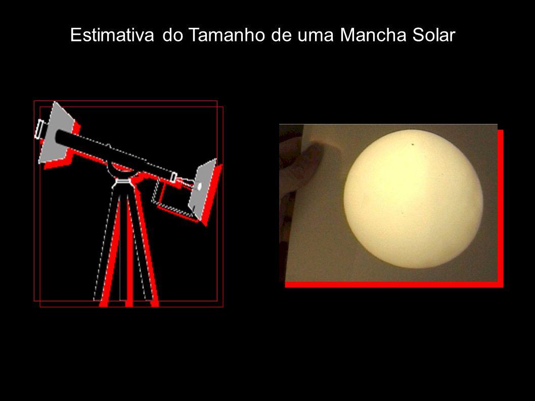 Estimativa do Tamanho de uma Mancha Solar
