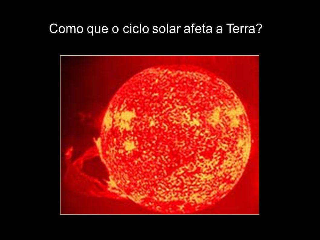 Como que o ciclo solar afeta a Terra