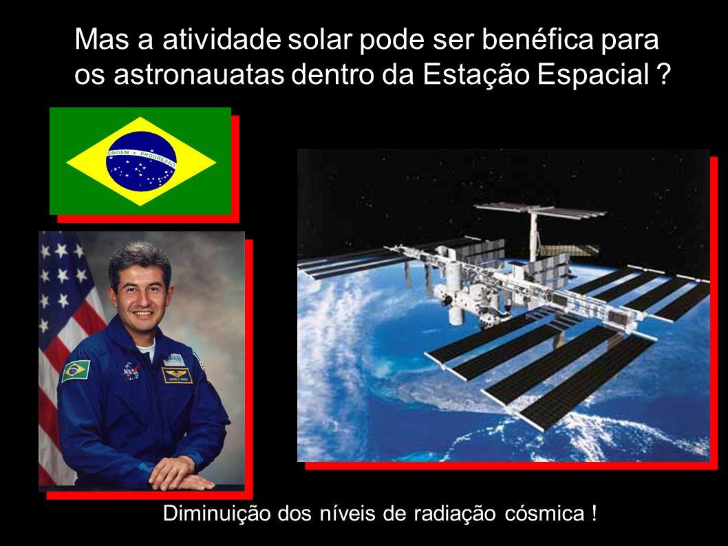 Mas a atividade solar pode ser benéfica para os astronauatas dentro da Estação Espacial