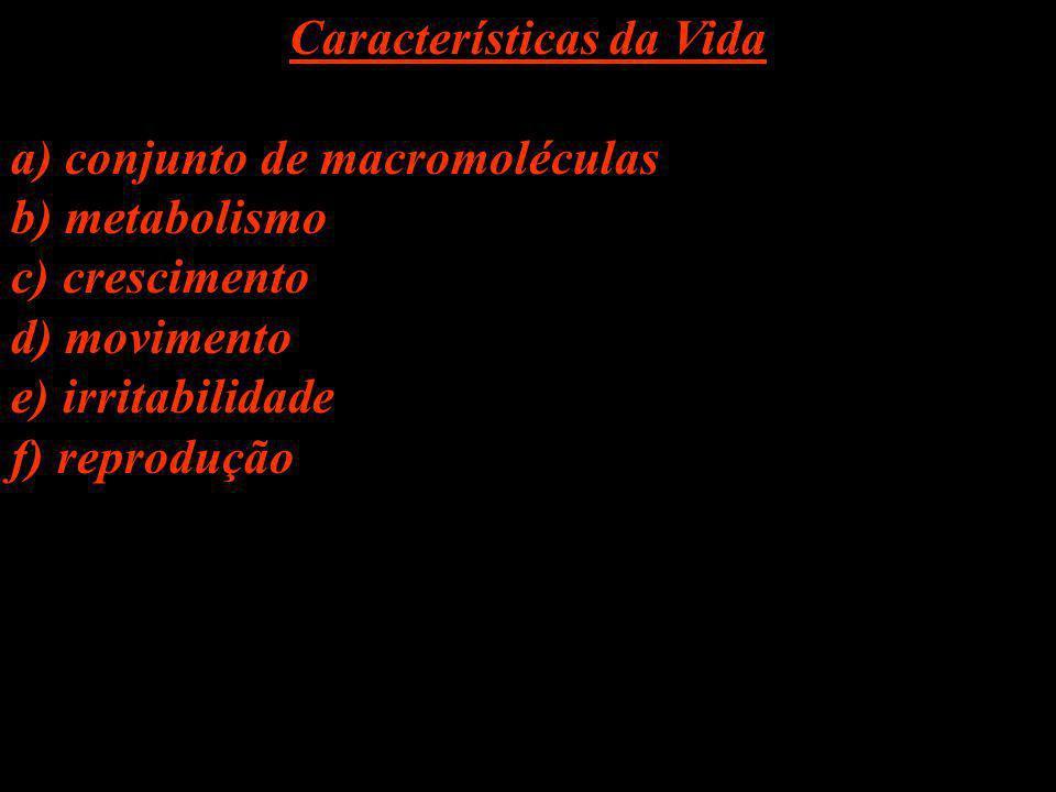 Características da Vida