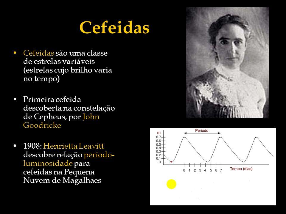Cefeidas Cefeidas são uma classe de estrelas variáveis (estrelas cujo brilho varia no tempo)