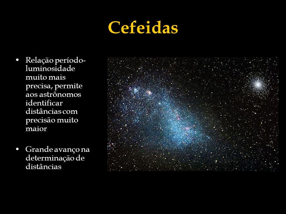 CefeidasRelação período-luminosidade muito mais precisa, permite aos astrônomos identificar distâncias com precisão muito maior.