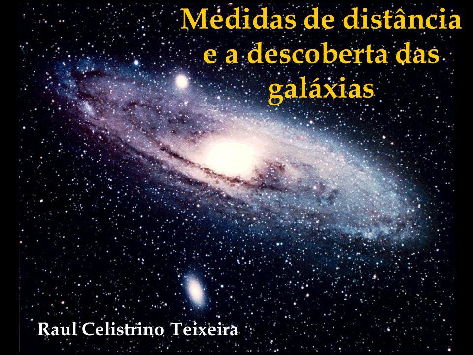 Medidas de distância e a descoberta das galáxias