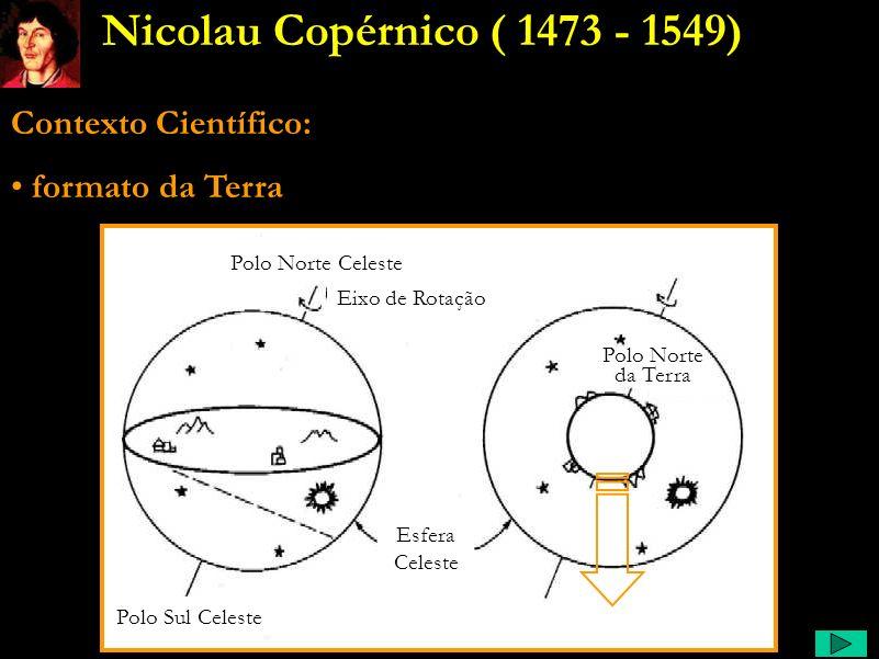 Nicolau Copérnico ( 1473 - 1549) Contexto Científico: formato da Terra