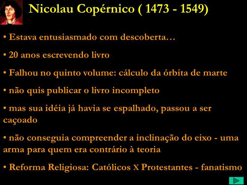 Nicolau Copérnico ( 1473 - 1549) Estava entusiasmado com descoberta…