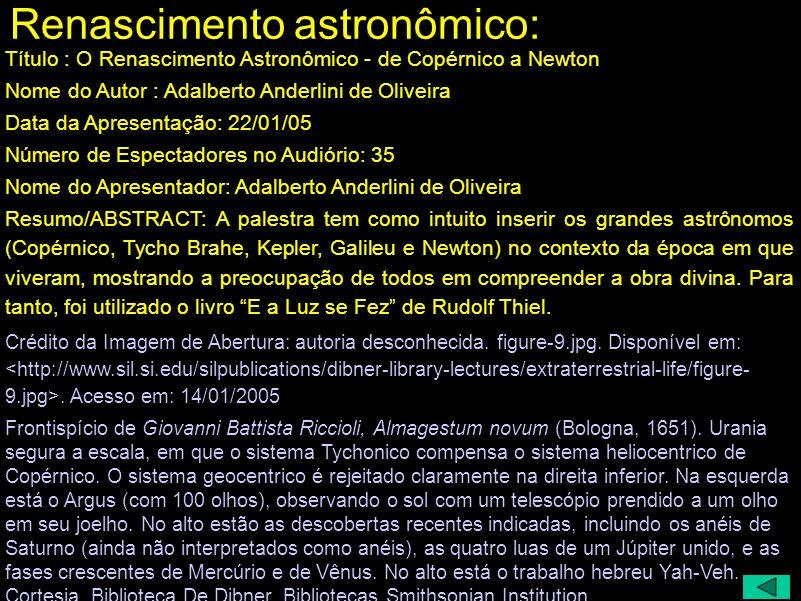 Renascimento astronômico: