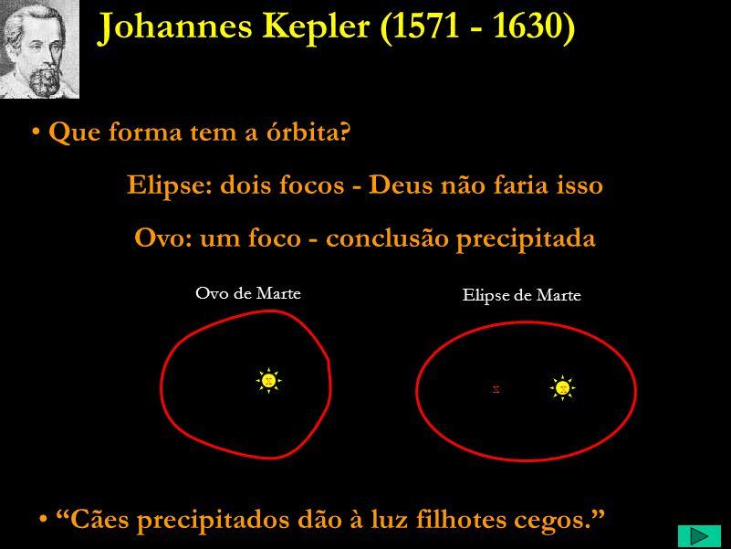 Johannes Kepler (1571 - 1630) Que forma tem a órbita