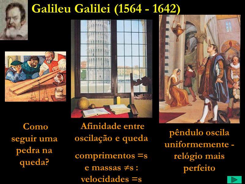 Galileu Galilei (1564 - 1642) Como seguir uma pedra na queda