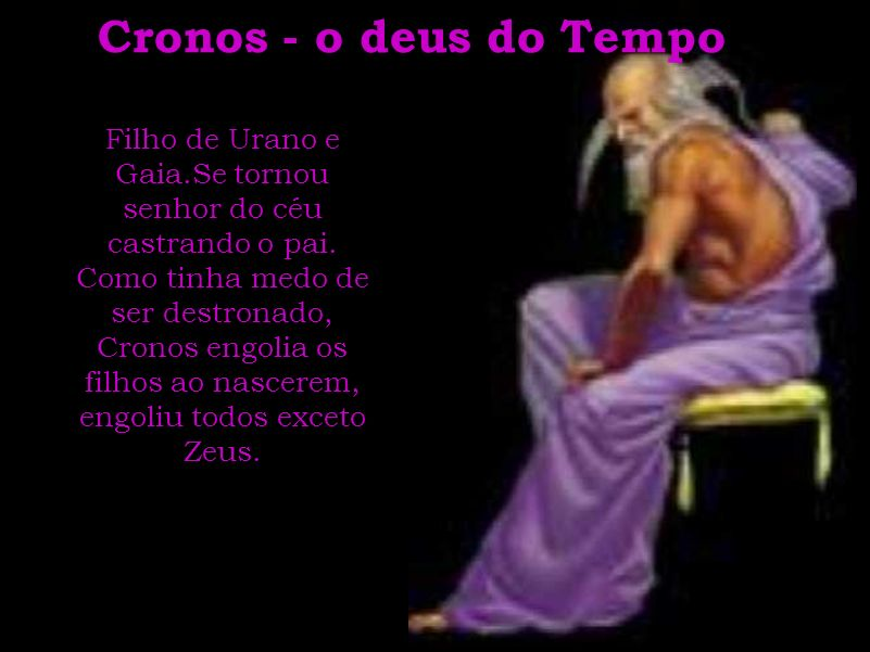 Cronos - o deus do Tempo