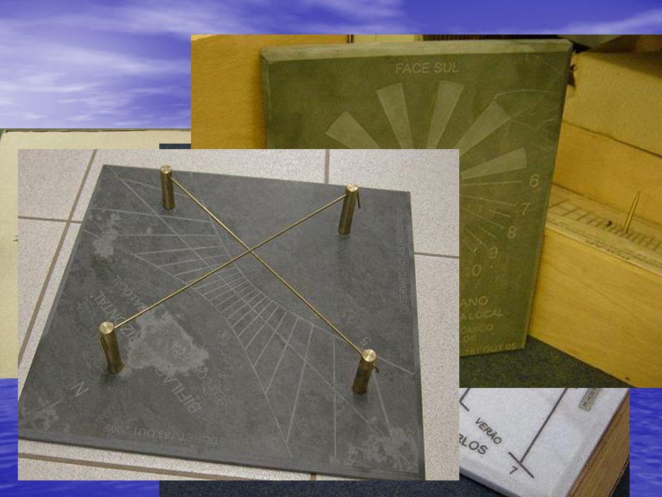 Relógios Aqui temos alguns modelos de relógios solares, inclusive os que serão montados no observatório.