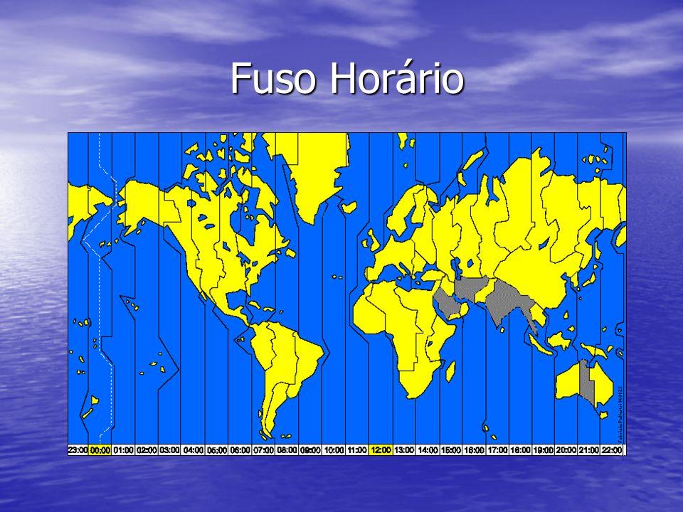 Fuso Horário O fuso horário surgiu para estabelecer um padrão na hora mundial