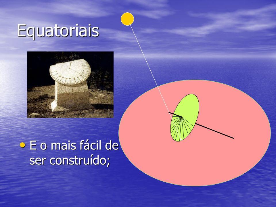 Equatoriais E o mais fácil de ser construído;