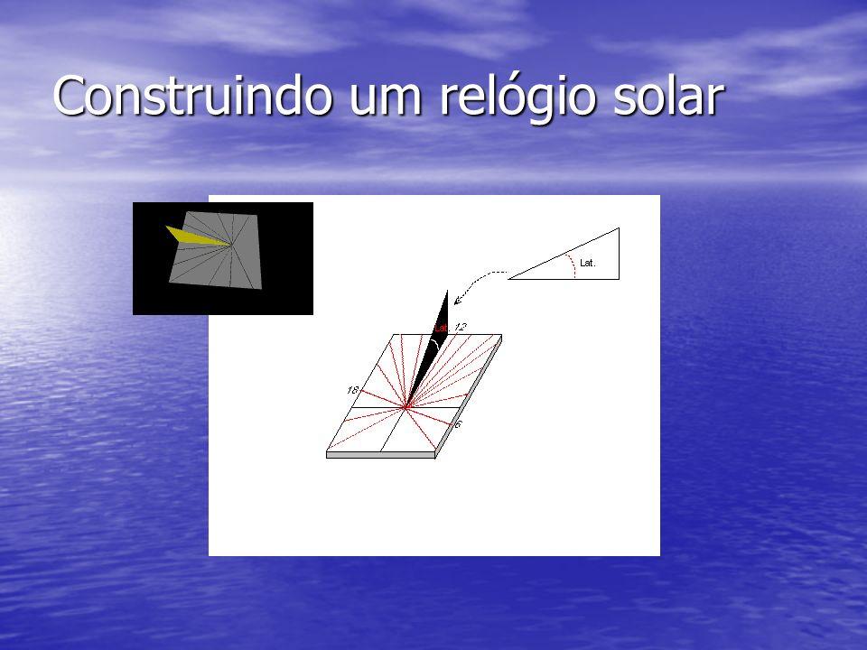 Construindo um relógio solar