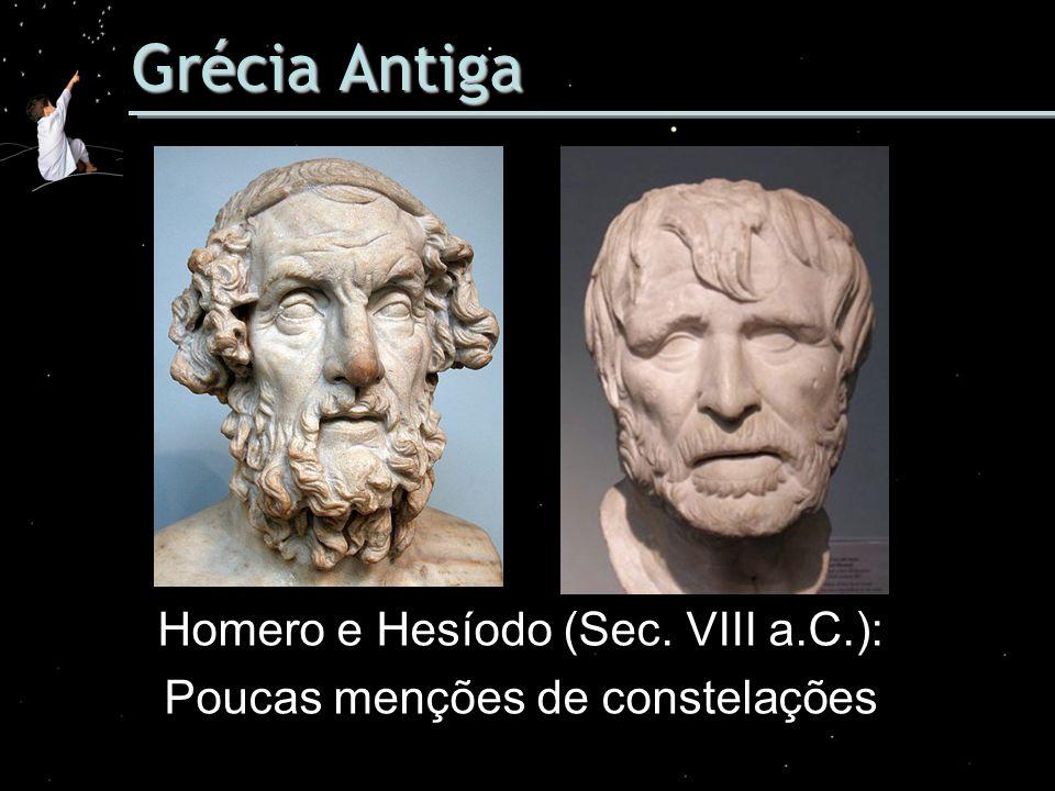 Grécia Antiga Homero e Hesíodo (Sec. VIII a.C.):