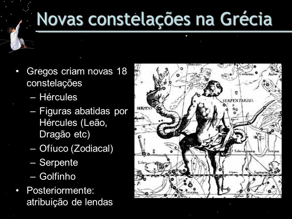 Novas constelações na Grécia