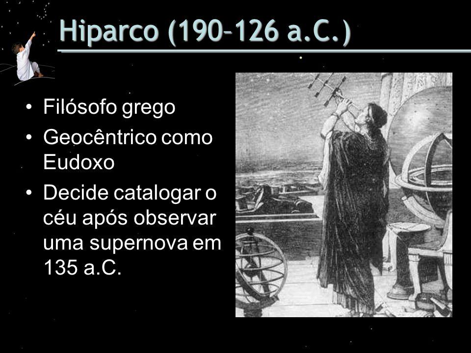 Hiparco (190–126 a.C.) Filósofo grego Geocêntrico como Eudoxo