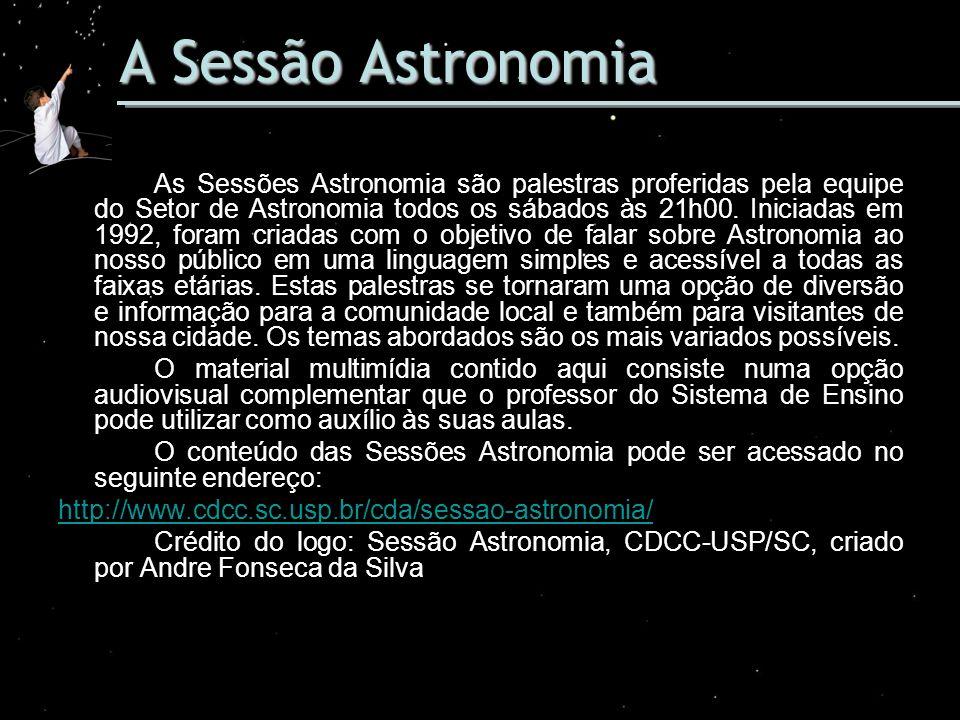 A Sessão Astronomia