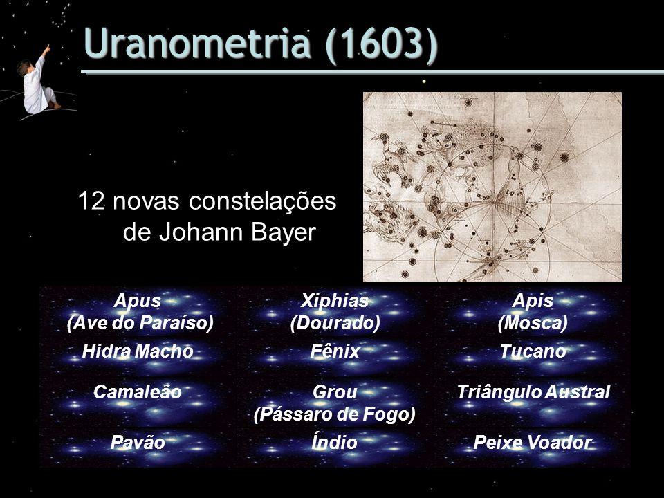 12 novas constelações de Johann Bayer