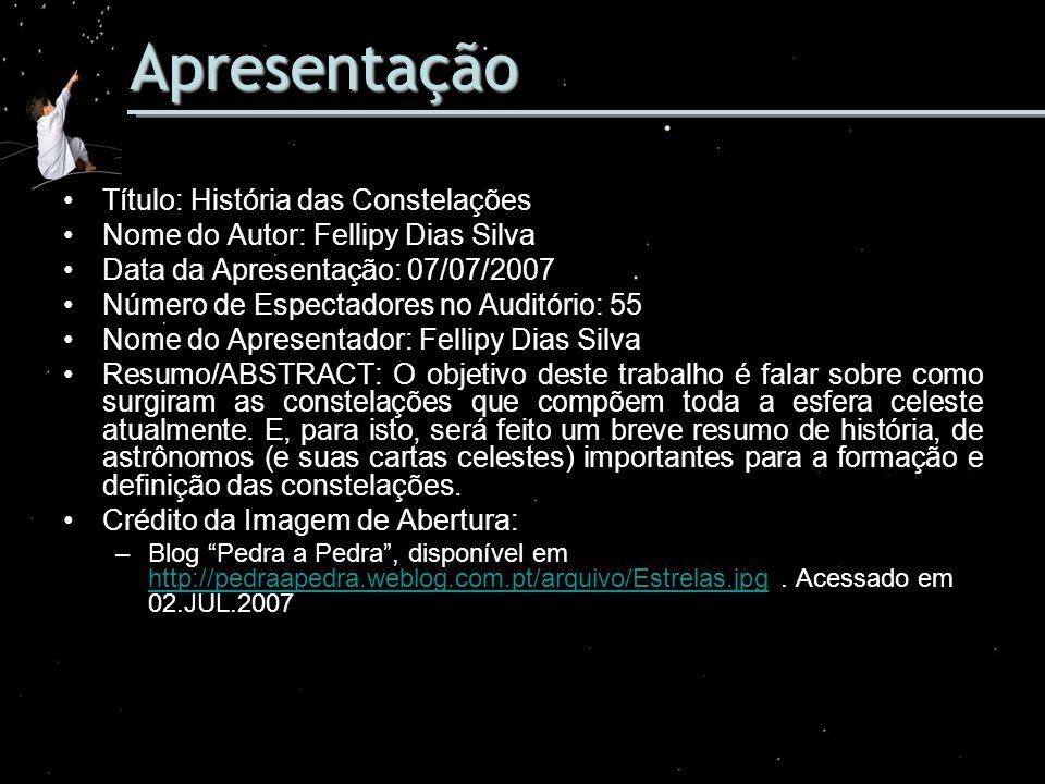 Apresentação Título: História das Constelações