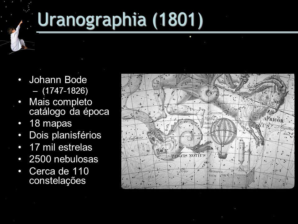 Uranographia (1801) Johann Bode Mais completo catálogo da época