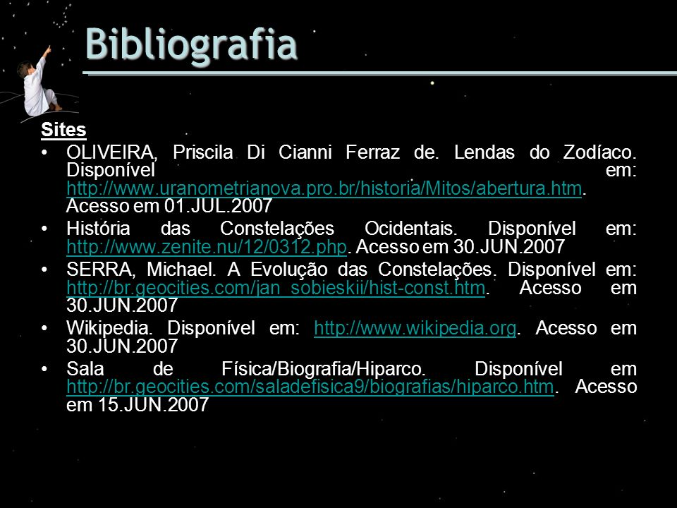 Bibliografia Sites.