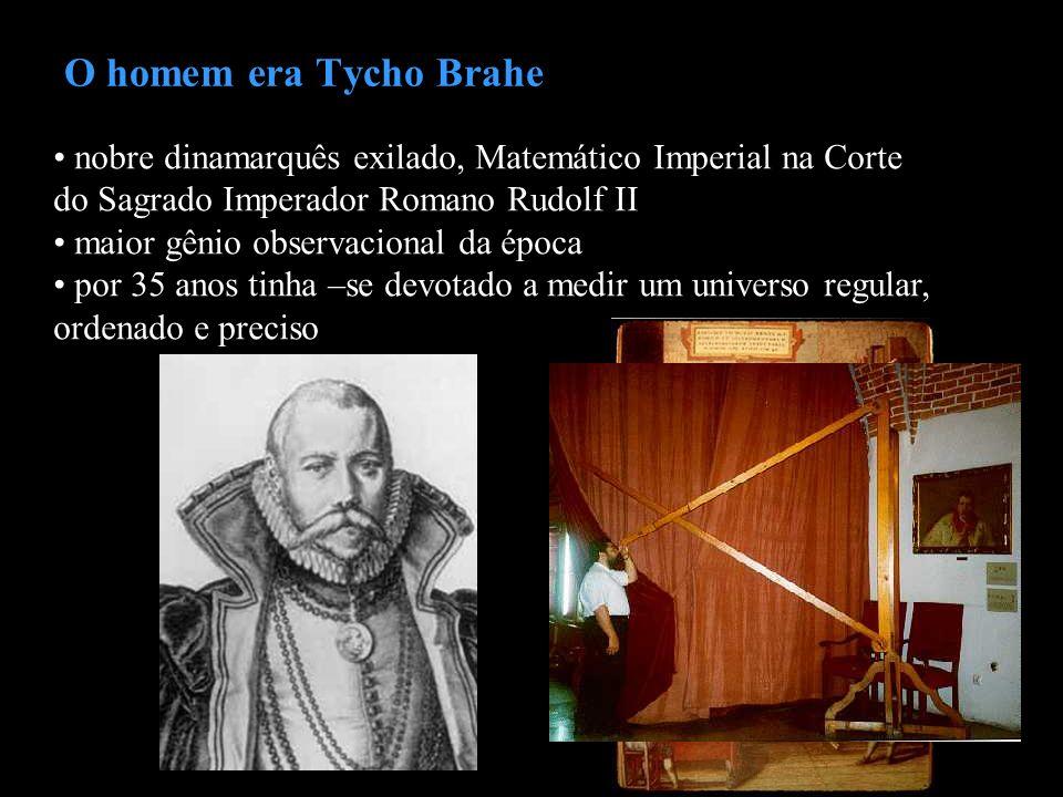 O homem era Tycho Brahe nobre dinamarquês exilado, Matemático Imperial na Corte do Sagrado Imperador Romano Rudolf II.