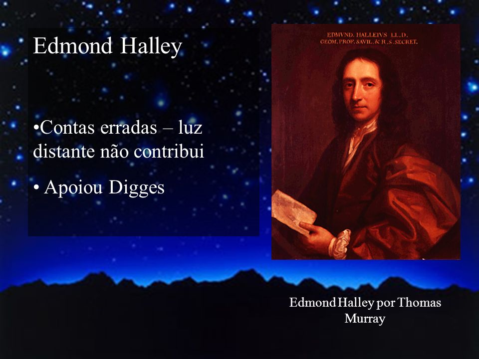 Edmond Halley por Thomas Murray