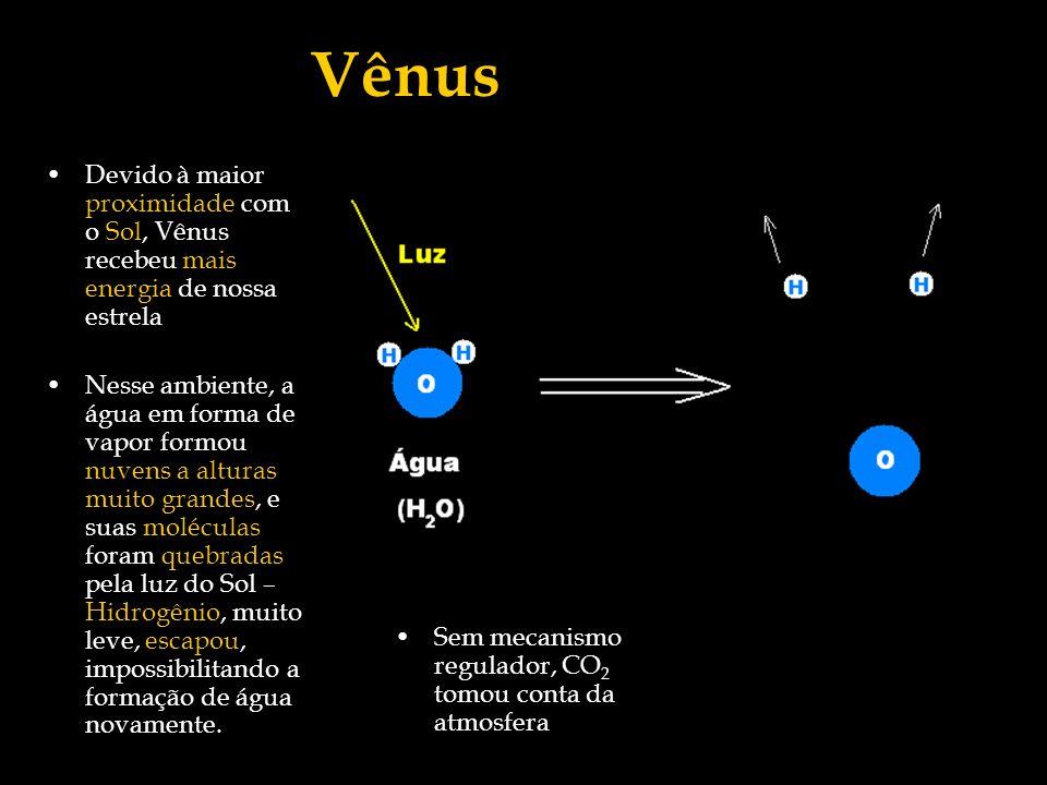 Vênus Devido à maior proximidade com o Sol, Vênus recebeu mais energia de nossa estrela.