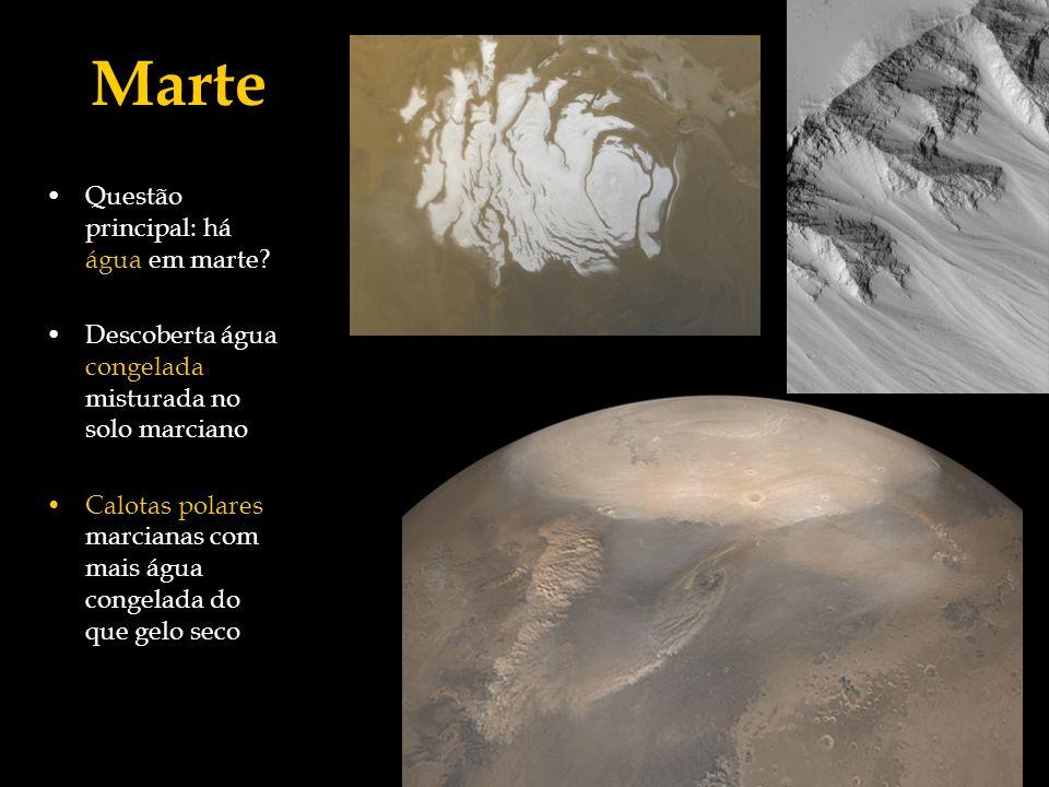 Marte Questão principal: há água em marte