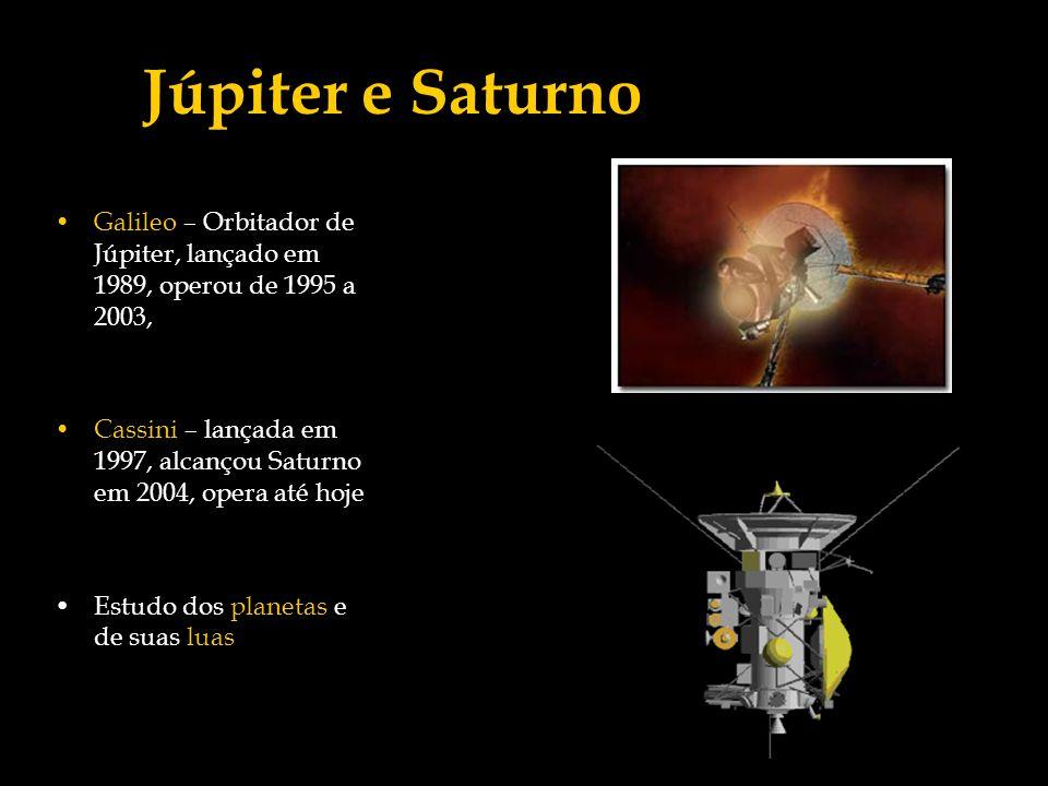 Júpiter e Saturno Galileo – Orbitador de Júpiter, lançado em 1989, operou de 1995 a 2003,
