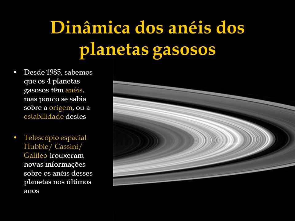 Dinâmica dos anéis dos planetas gasosos