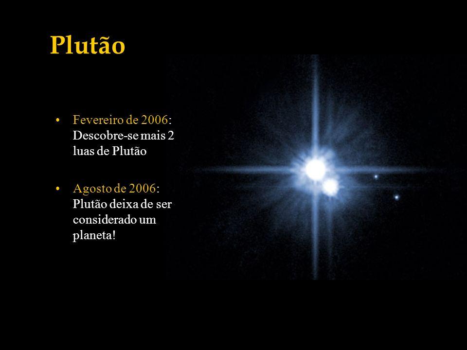 Plutão Fevereiro de 2006: Descobre-se mais 2 luas de Plutão