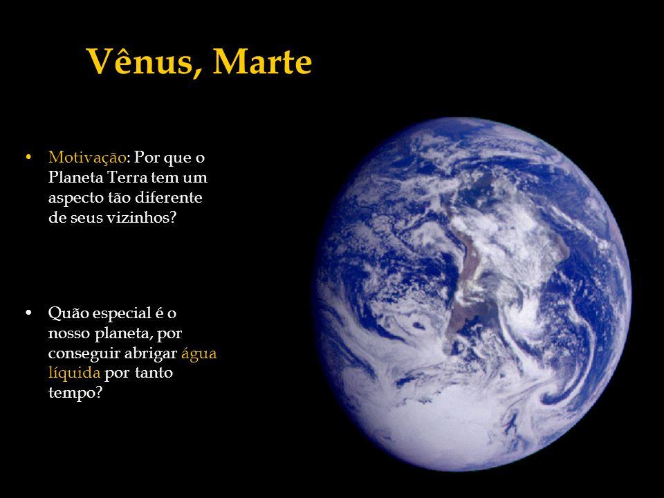 Vênus, Marte Motivação: Por que o Planeta Terra tem um aspecto tão diferente de seus vizinhos
