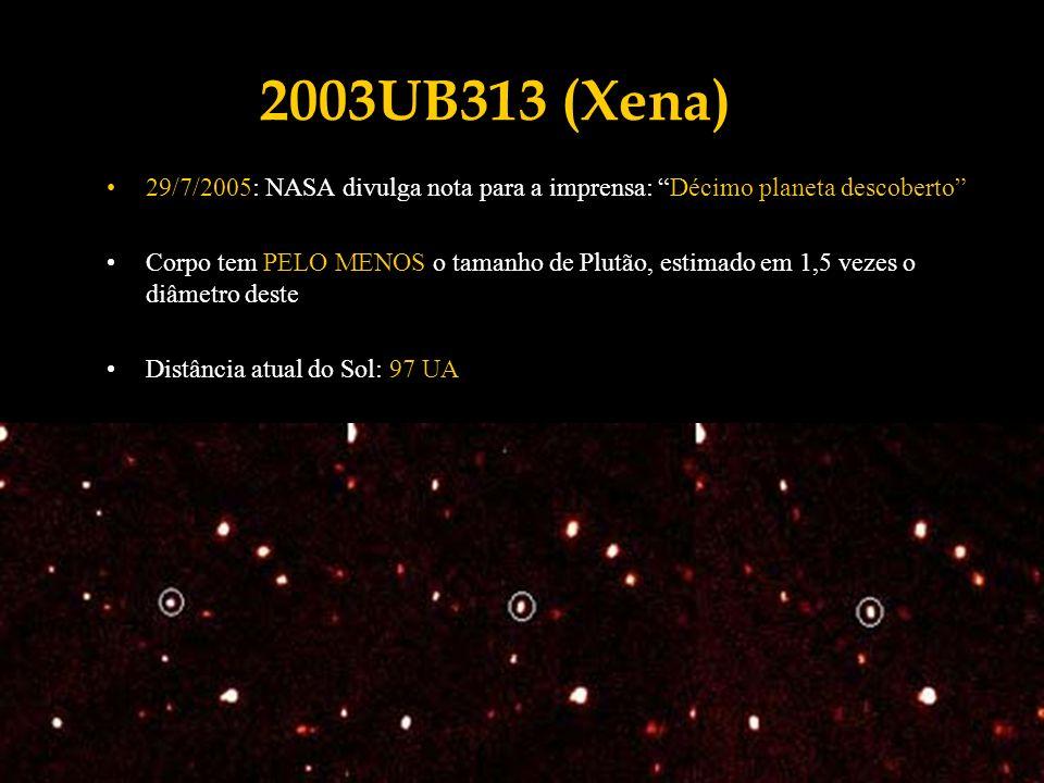 2003UB313 (Xena) 29/7/2005: NASA divulga nota para a imprensa: Décimo planeta descoberto