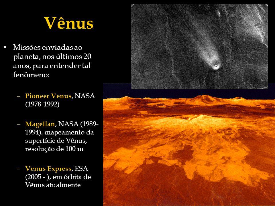 Vênus Missões enviadas ao planeta, nos últimos 20 anos, para entender tal fenômeno: Pioneer Venus, NASA (1978-1992)