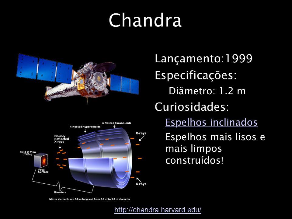 Chandra Lançamento:1999 Especificações: Curiosidades: Diâmetro: 1.2 m