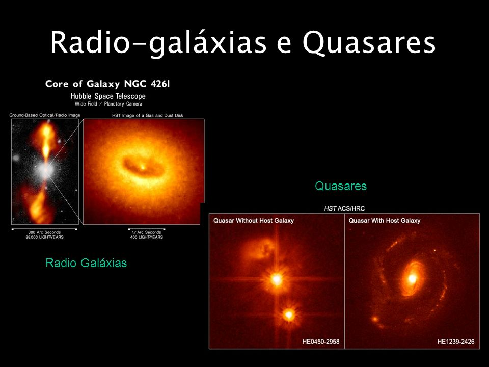 Radio-galáxias e Quasares