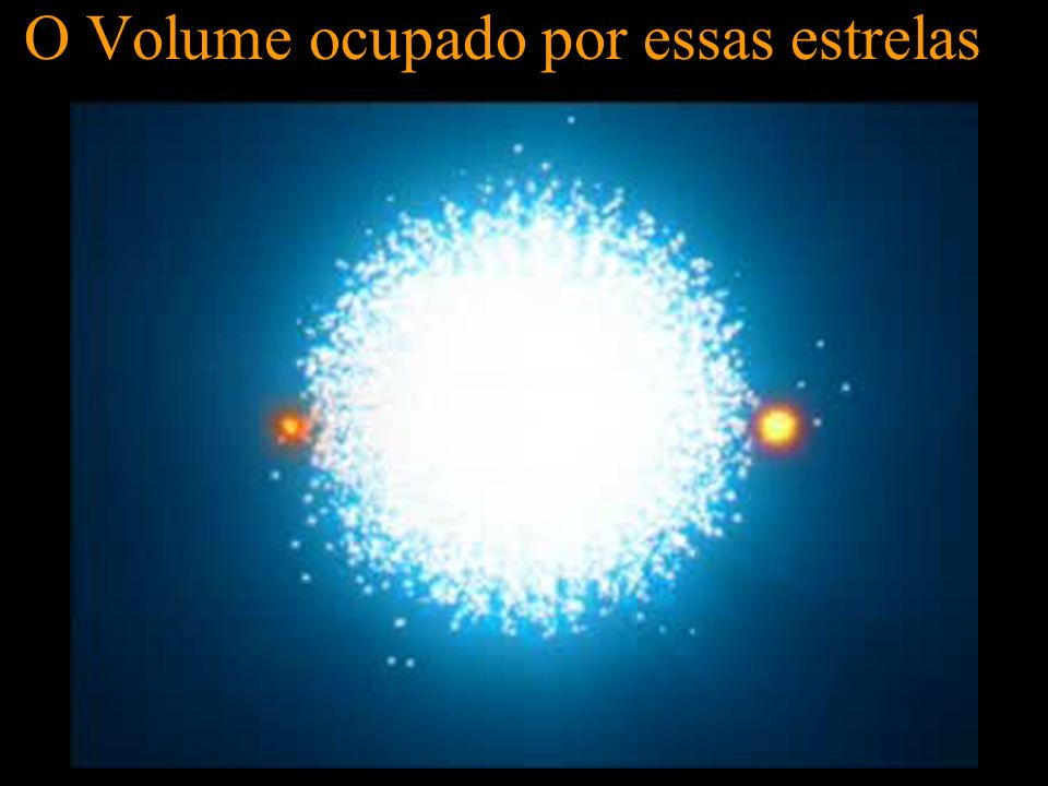 O Volume ocupado por essas estrelas