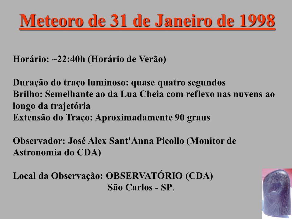 Meteoro de 31 de Janeiro de 1998