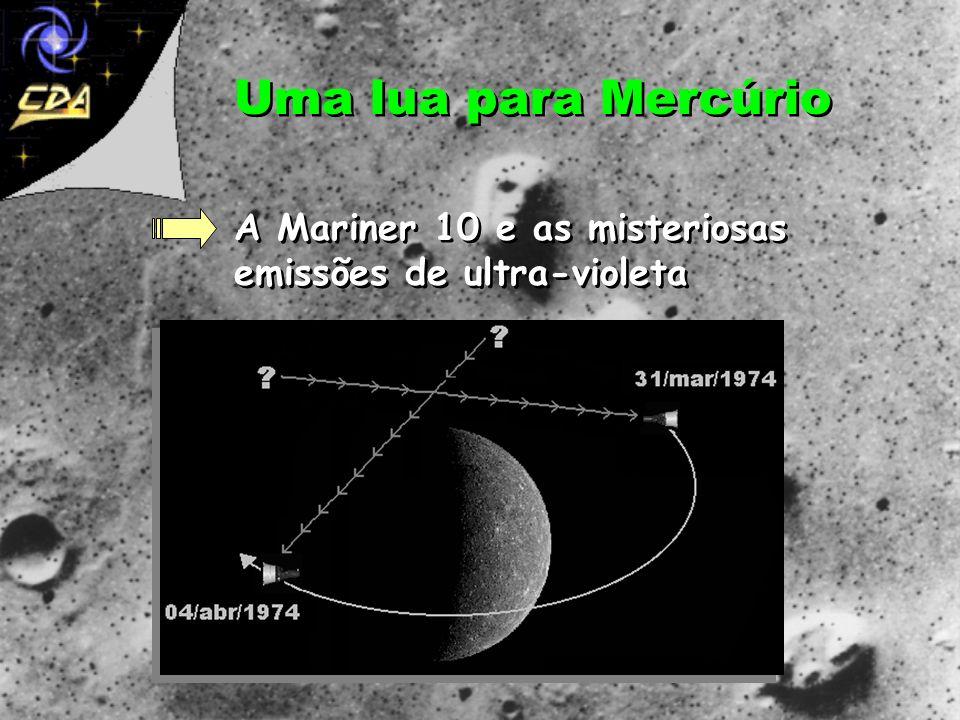 Uma lua para Mercúrio A Mariner 10 e as misteriosas emissões de ultra-violeta