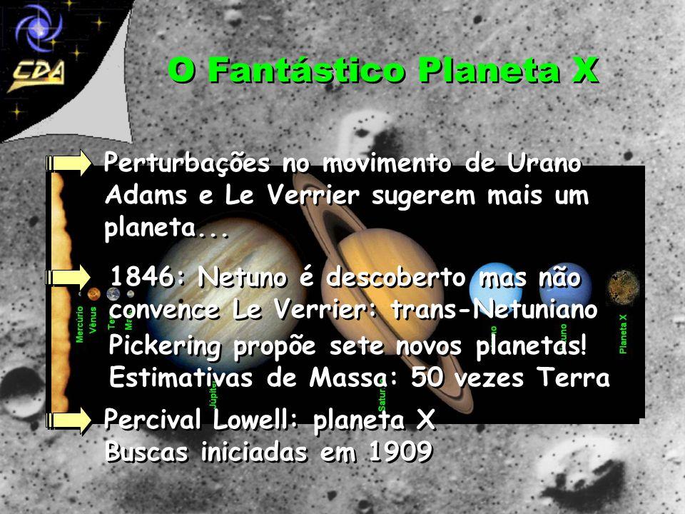 O Fantástico Planeta XPerturbações no movimento de Urano Adams e Le Verrier sugerem mais um planeta...