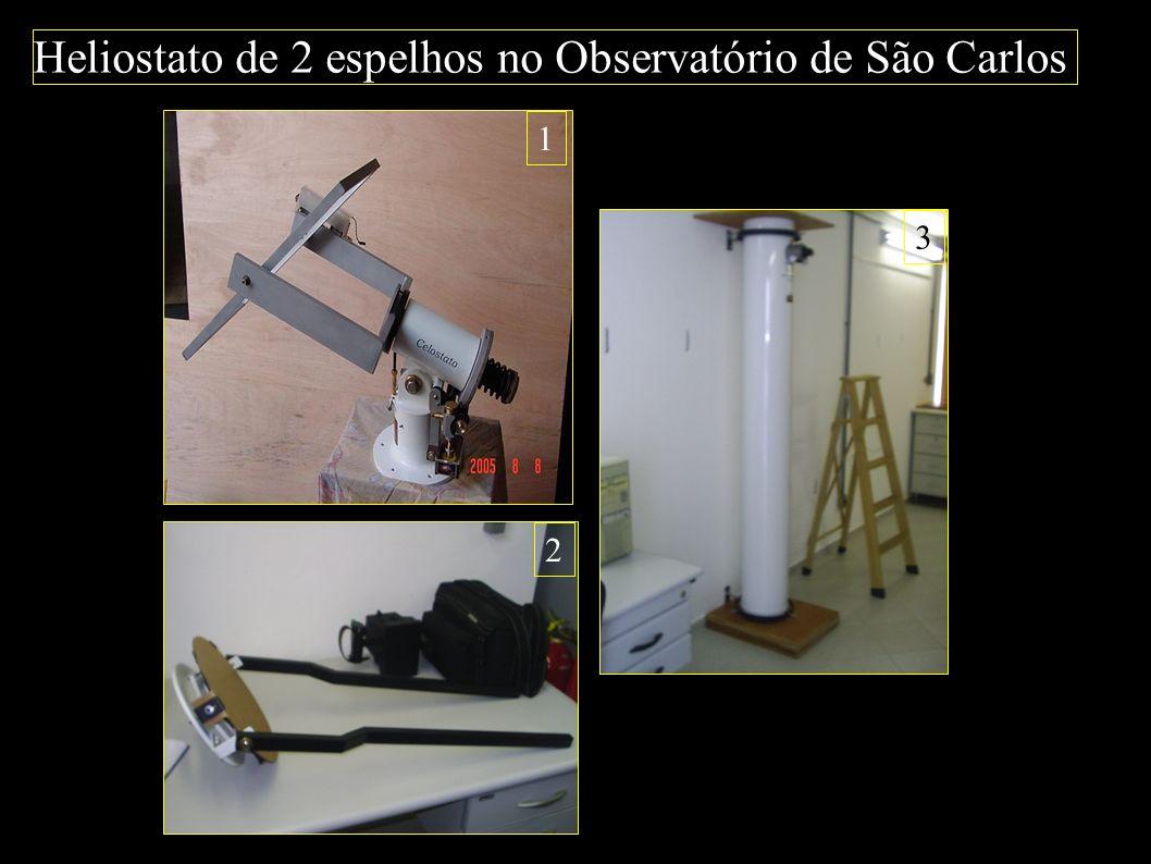 Heliostato de 2 espelhos no Observatório de São Carlos