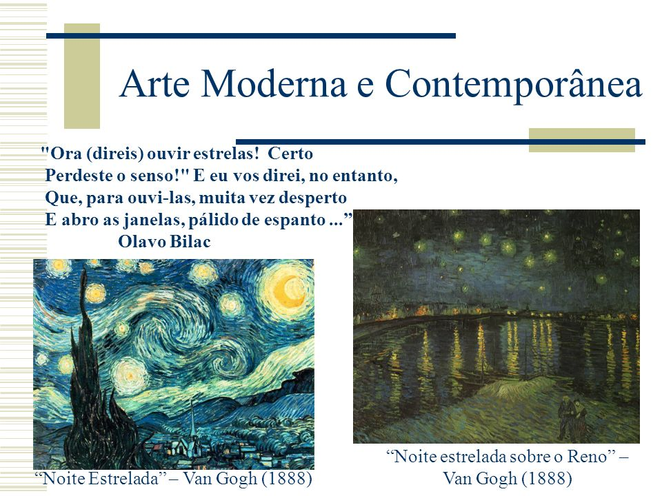 Arte Moderna e Contemporânea
